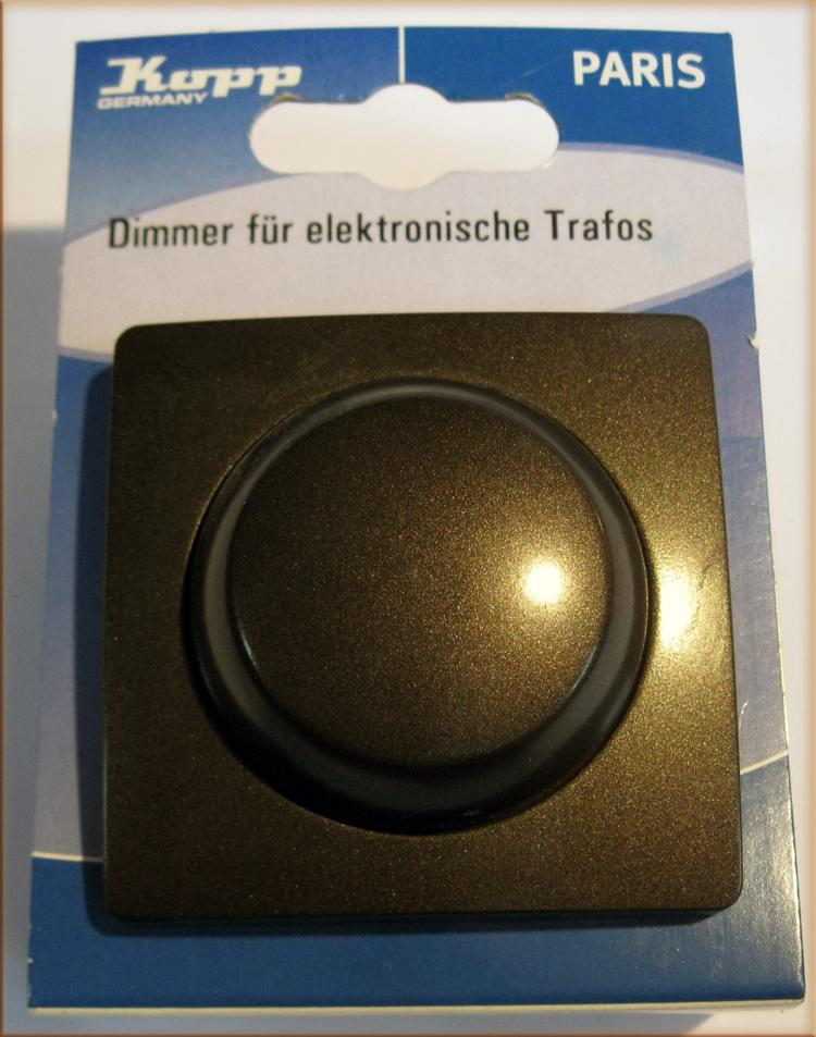 kopp paris elektronischer dimmer mit wechselschalter palisander braun ebay. Black Bedroom Furniture Sets. Home Design Ideas